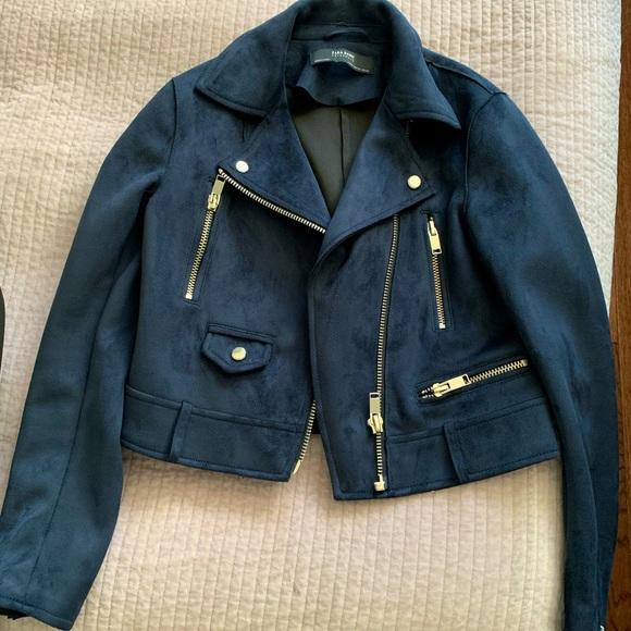 Swede jacket - navy blue Zara! XS